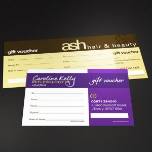 gift vouchers design and print